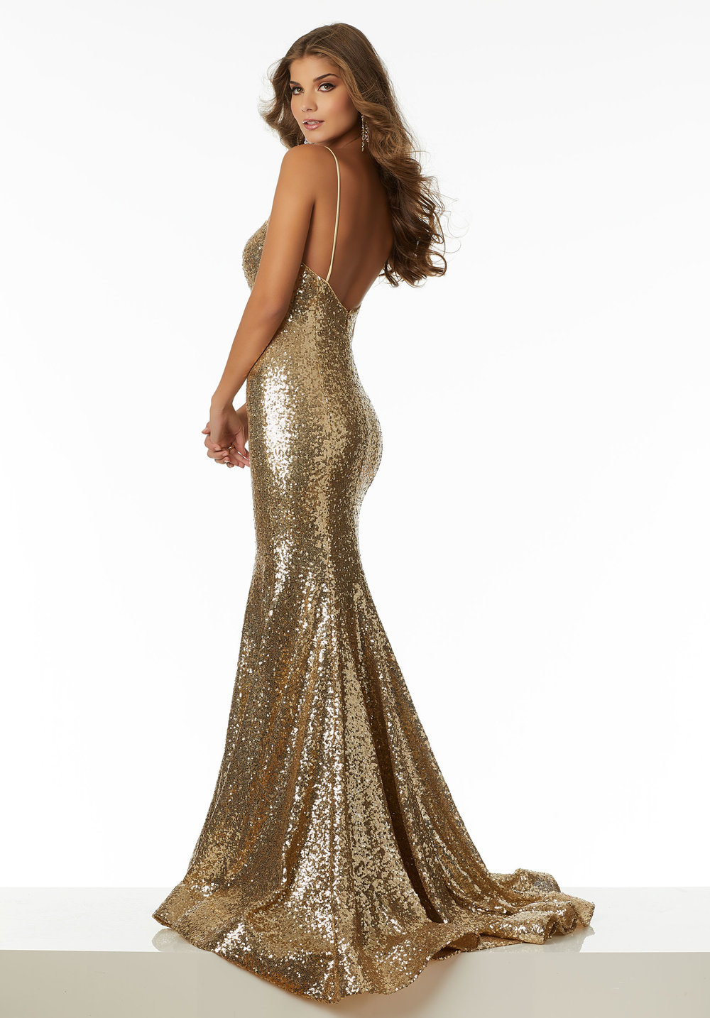 Fitted Sequin Prom Dress