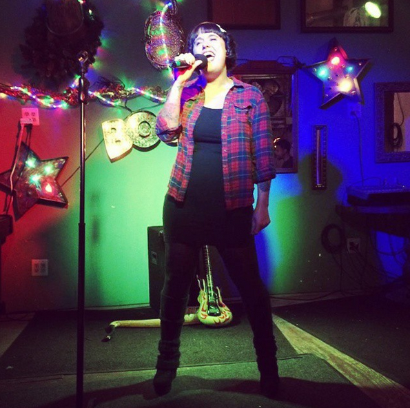 I never need booze to get up on stage for karaoke!
