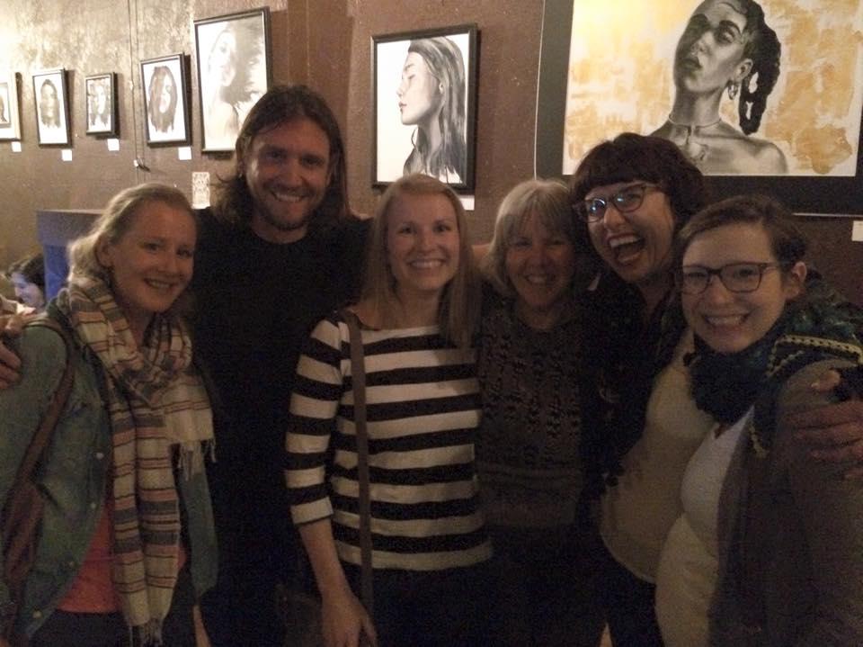 The Book Club girls with Ryan Nicodemus of The Minimalists.