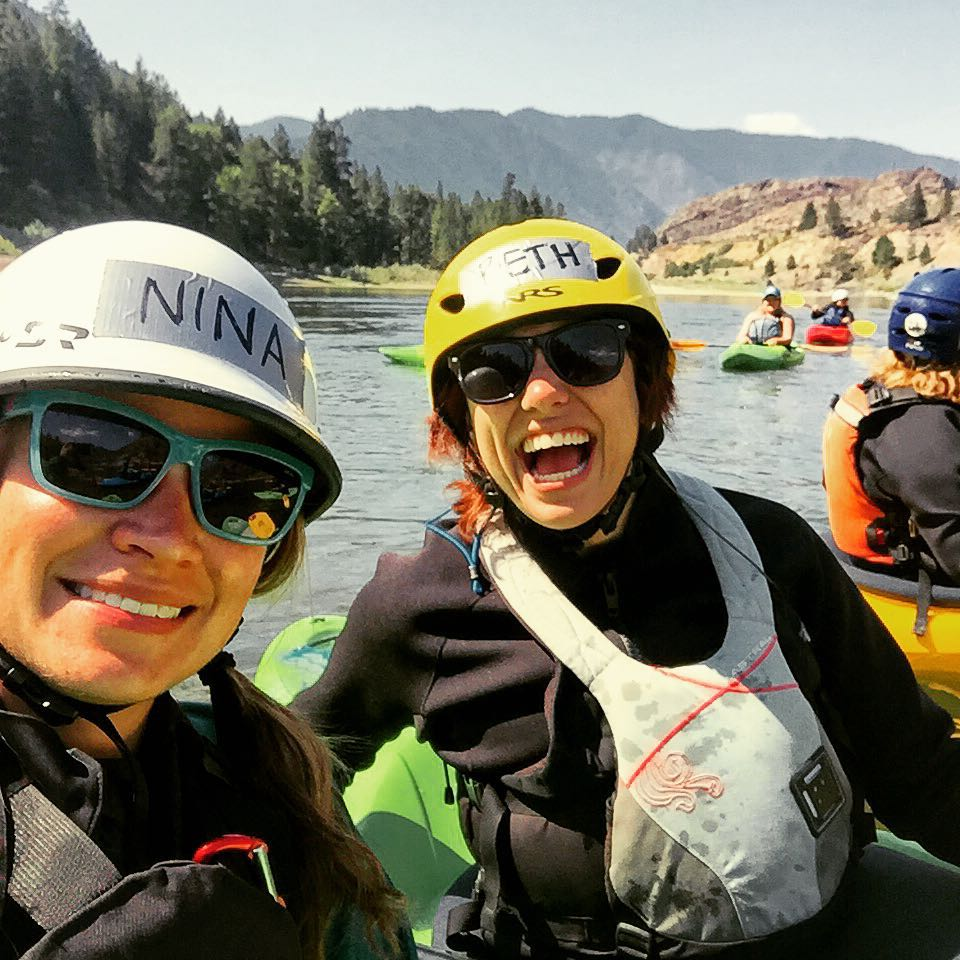 My spirit animal, Nina, and ME! I'M KAYAKING!