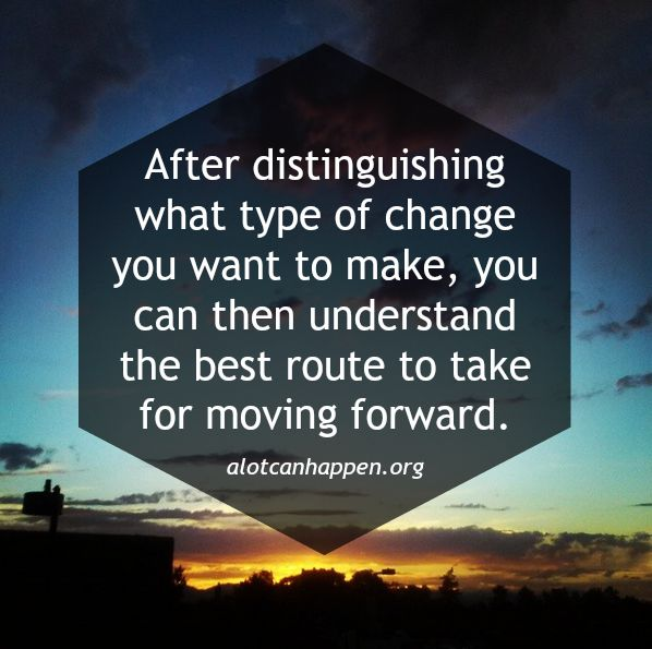 Type of change - moving forward