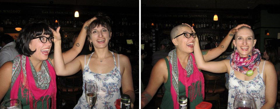 I love this photo of Taryn and me a little too much. (Before + After)