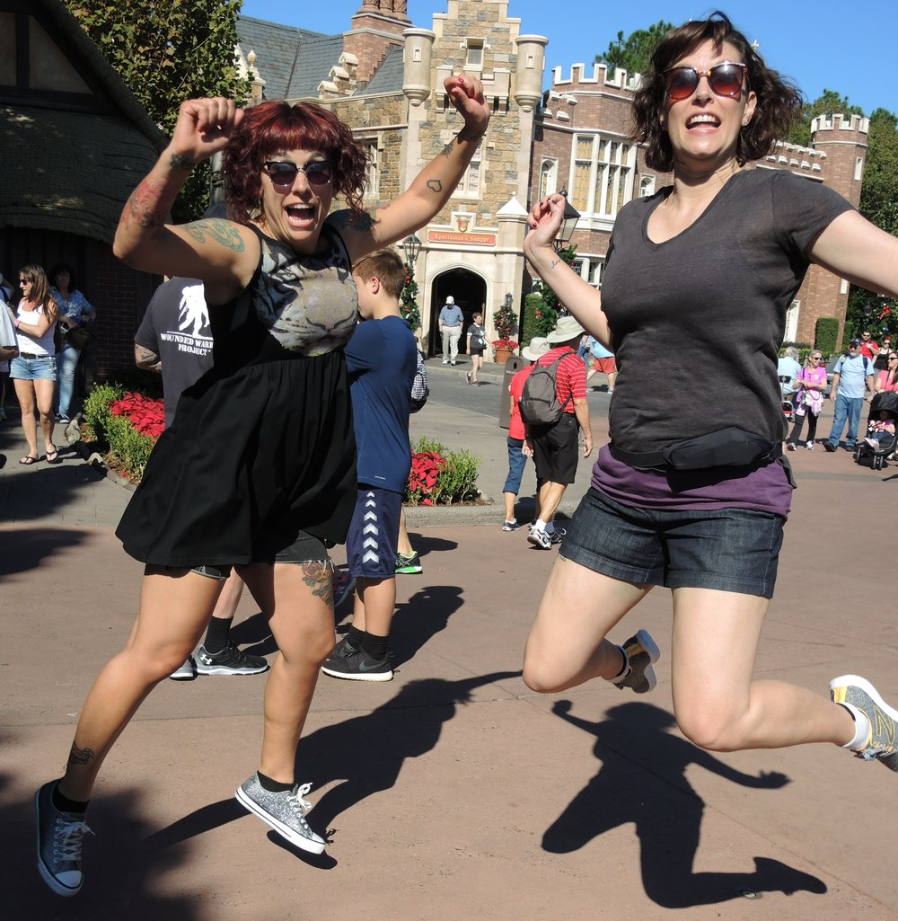 Me and my sister, Amber, having fun in Disneyland last month! We could live together happily, I am sure of it.