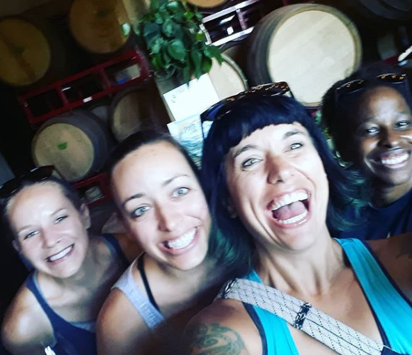 Blurry girls doing some wine tasting in the Willamette valley.