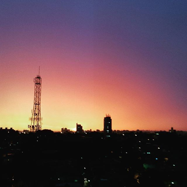 Sao Paulo looking orange and purple tonight :)