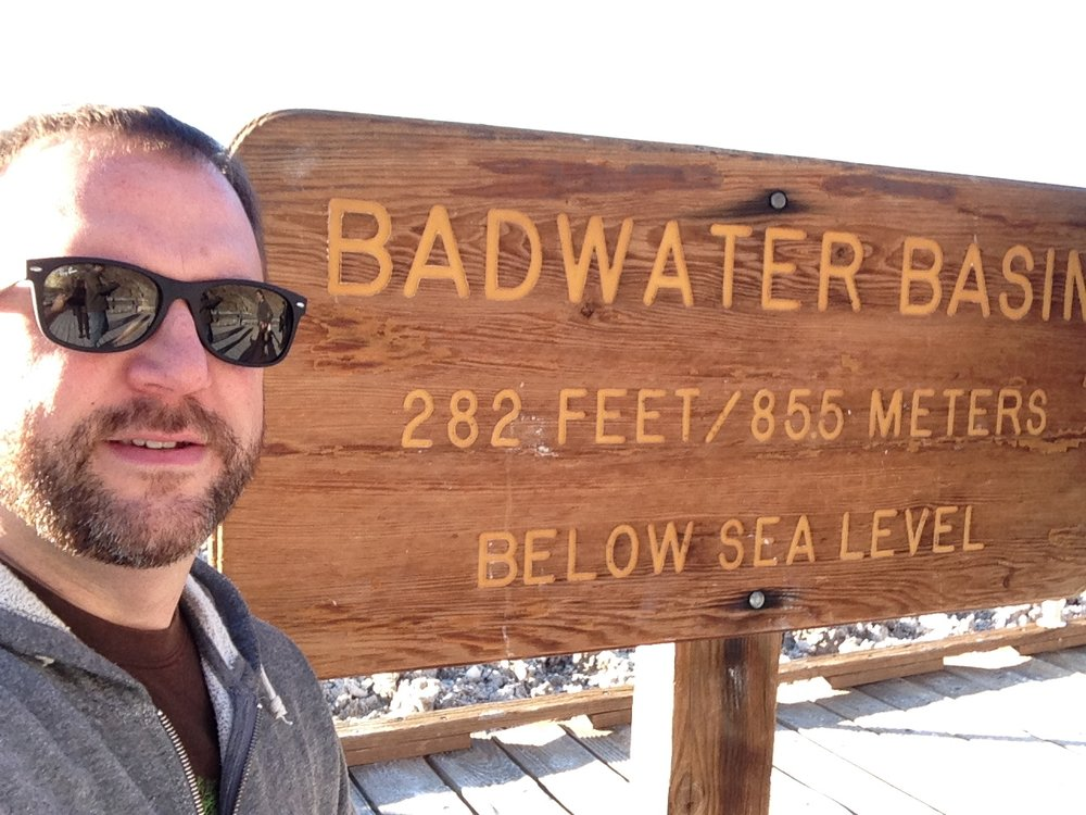 Badwater Basin, the lowest point in the USA.