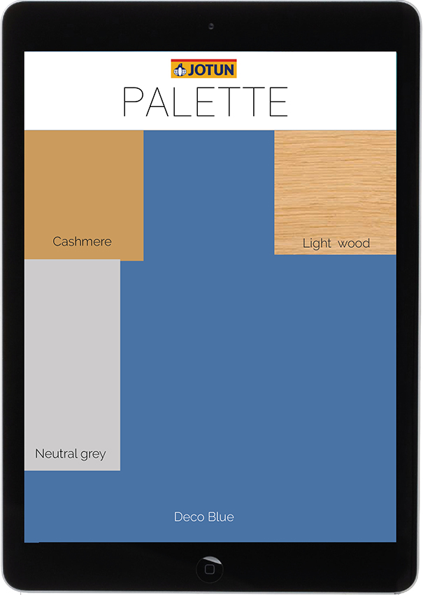 18. The palette appears on the entire screen.