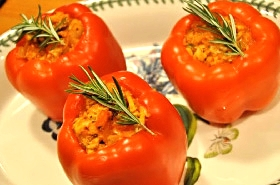 Turkey Stuffed Bell Peppers for Healthy Eating and Weight Loss