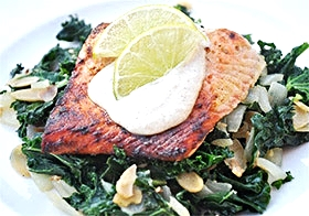 Healthy &easy baked salmon for low fat diet