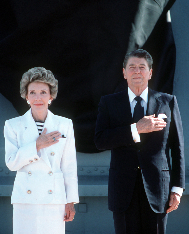 Nancy Reagan, protector of former president's legacy, dies at 94 via USA Today