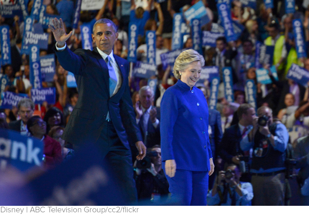Obama portrays Clinton, his former foe and advisor, as uniquely qualified for the White House via LA Times