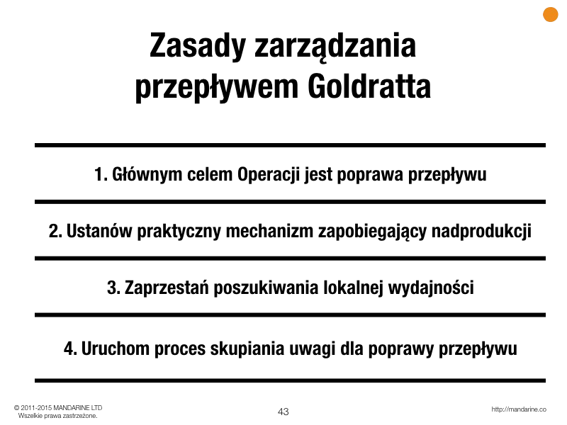 Cztery zasady zarządzania przepływem wg Goldratta