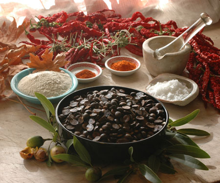 Bay nut candy ingredients- chili powders, hand gathered sea salt and maple sugar