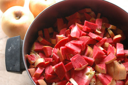Red fleshed apples for making jelly