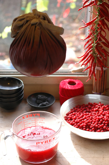 Jelly making.  It's just pretty with all those fall colors around.  So maybe I set it up a little, but all that shit was sitting on my counter already.  That's how I'm livin' y'all.