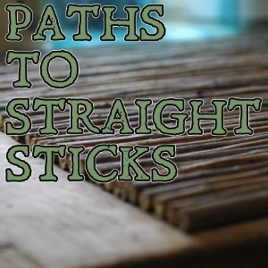 How to find and encourage straight sticks
