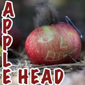 Apple head, from punk to the plunk of falling apples