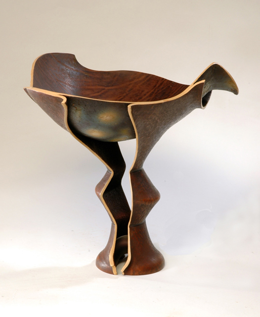 Leather vessel by  Rex Lingwood