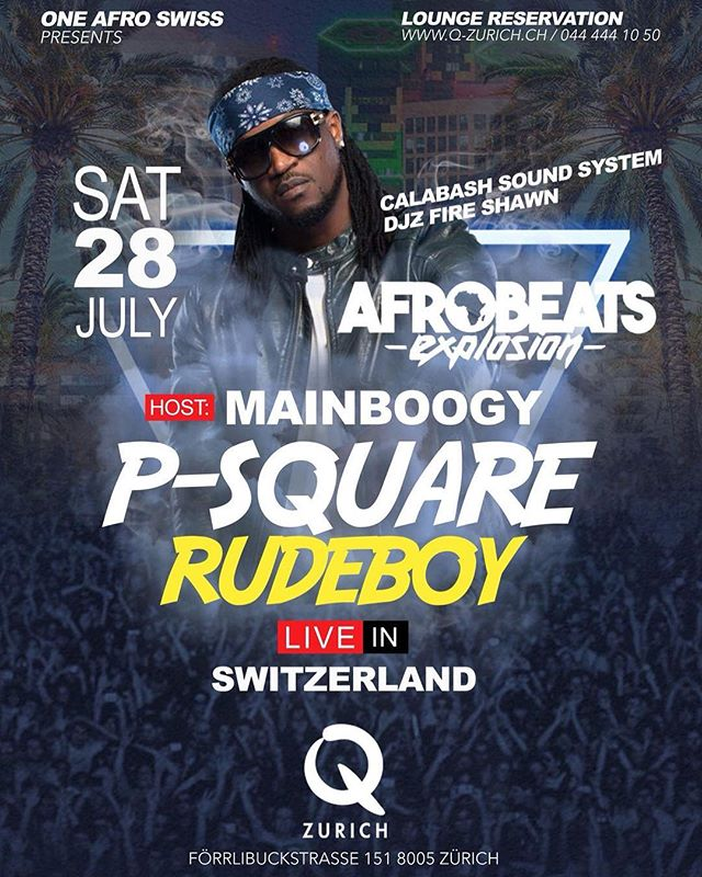 Concert alert! 10 days left until @rudeboypsquare will hit the stage at @q_zurich club! Catch us on the decks alongside @djzfire for the party!  Hosted by @mainboogy  Grab your ticket at @starticket now! #psquare #rudeboy #concert #liveshow #calabash #thecalabashment #AnAfricanTing