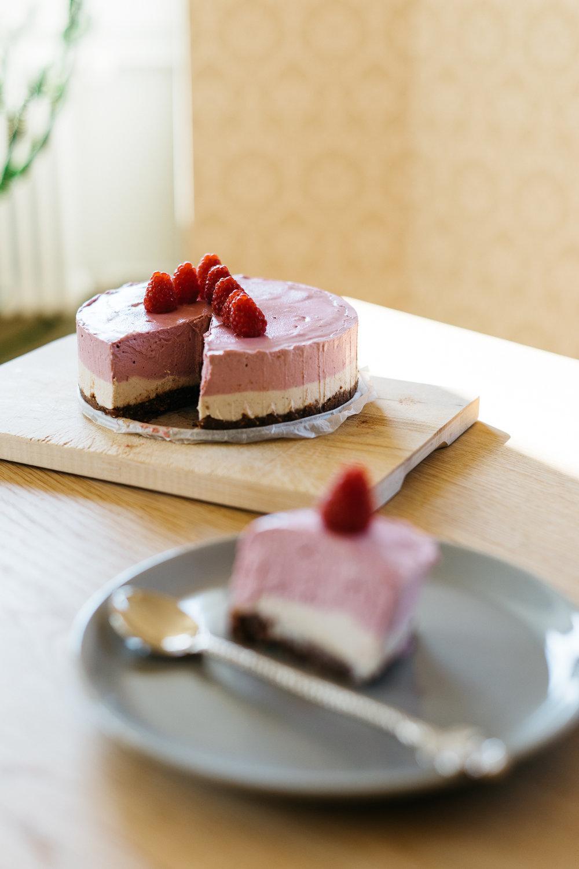 Raw Raspberry Coconut Birthday Cake Natural Always