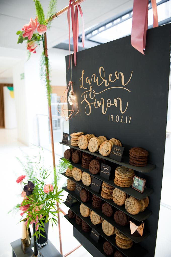 Cookie Wall | Bespoke Celebration & Wedding Cakes | Yummy Little Cakes, Nottingham | www.yummylittlecakes.co.uk