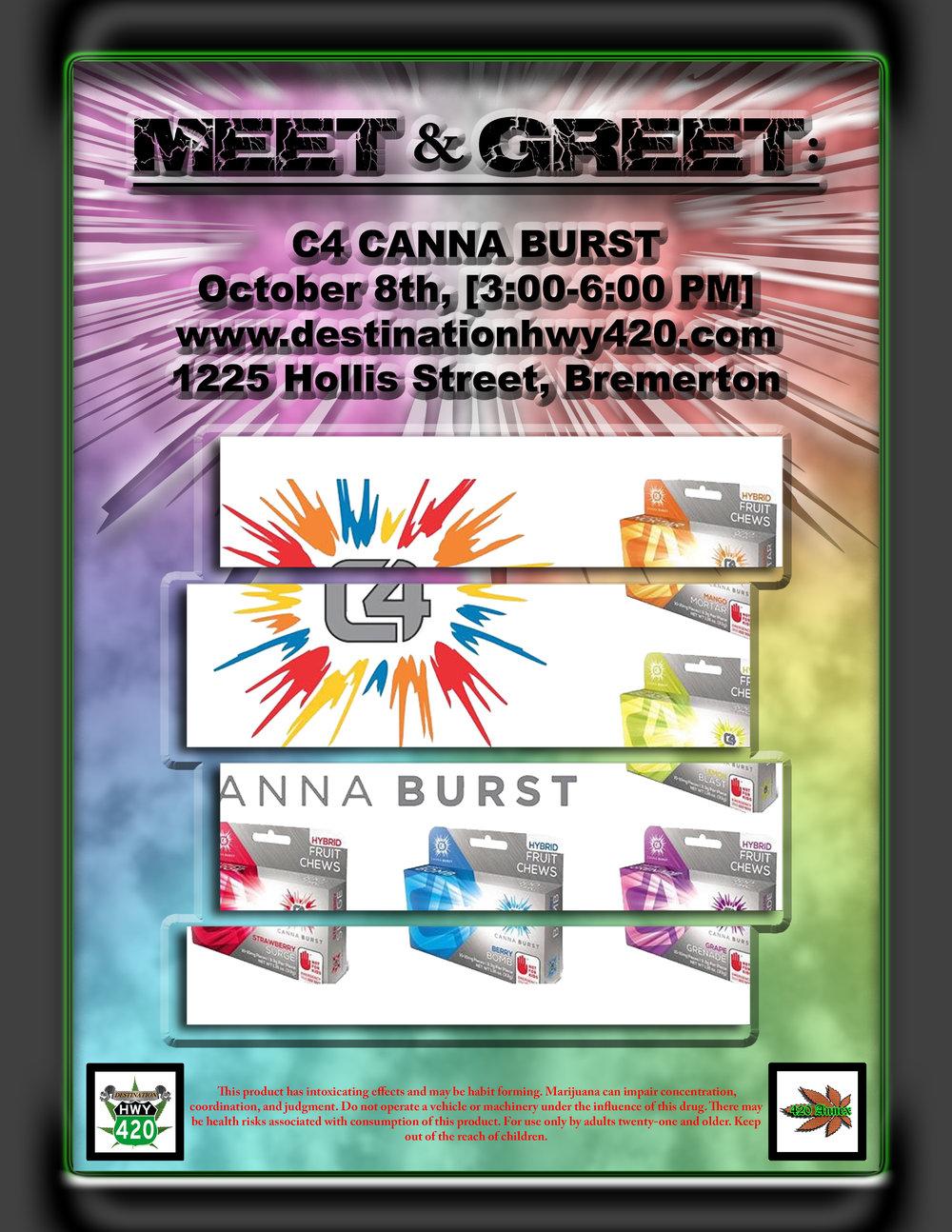 C4 Canna Burst Meet & Greet - Marijuana Infused Edibles