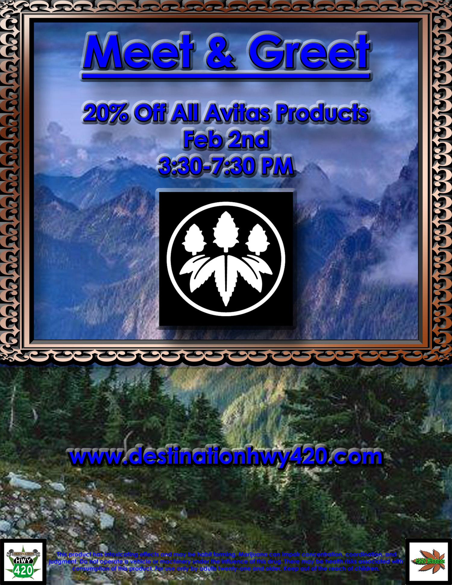 Meet & Greet: Avitas (Cannabis Oil Filled Vape Cartridges