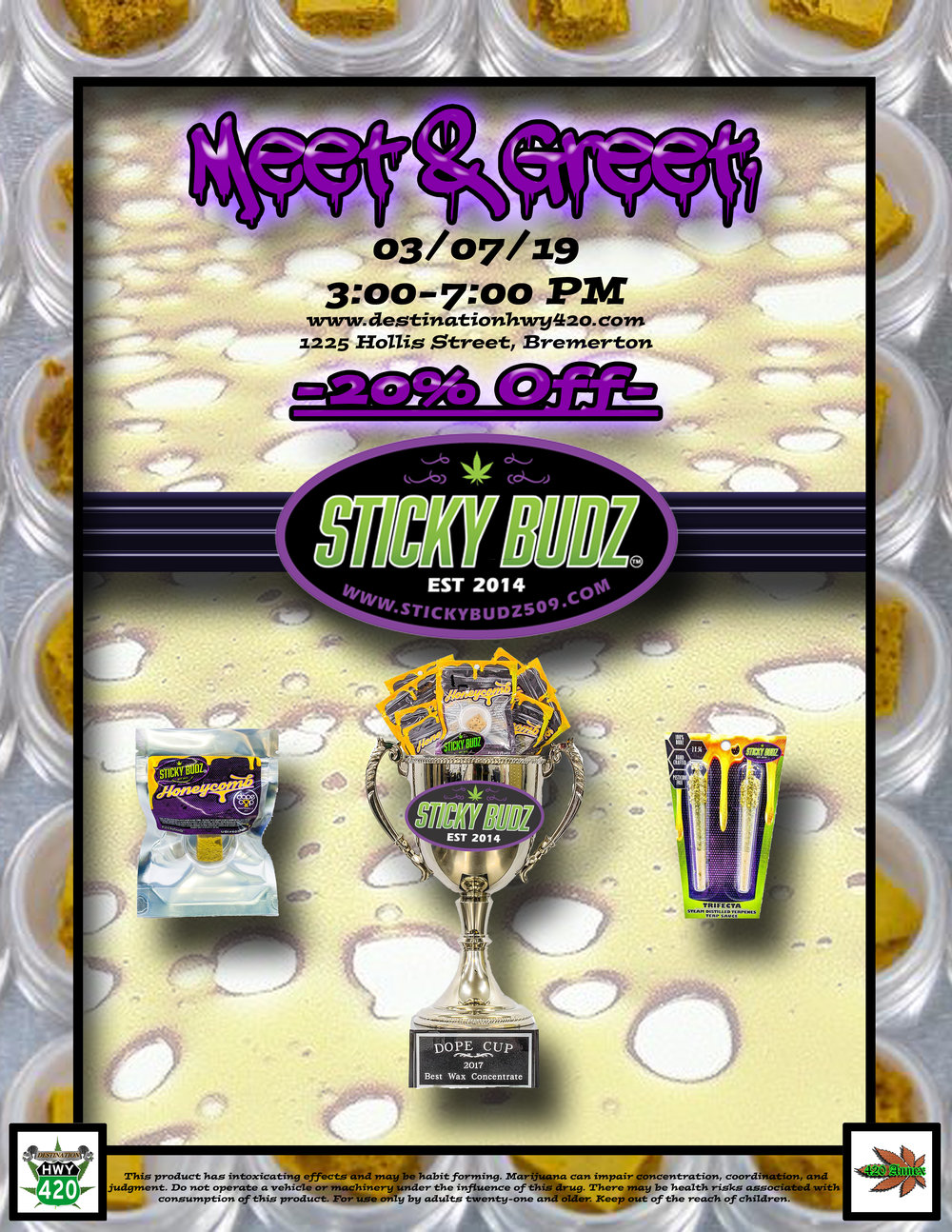 Sticky Budz was one of the first recreational cannabis producer/processors in Washington State. Before the recreational marijuana industry was established, Sticky Budz was the only medical marijuana store in the Yakima area. In addition to a rich history within the cannabis community, Sticky Budz has won several extremely competitive cannabis industry awards.