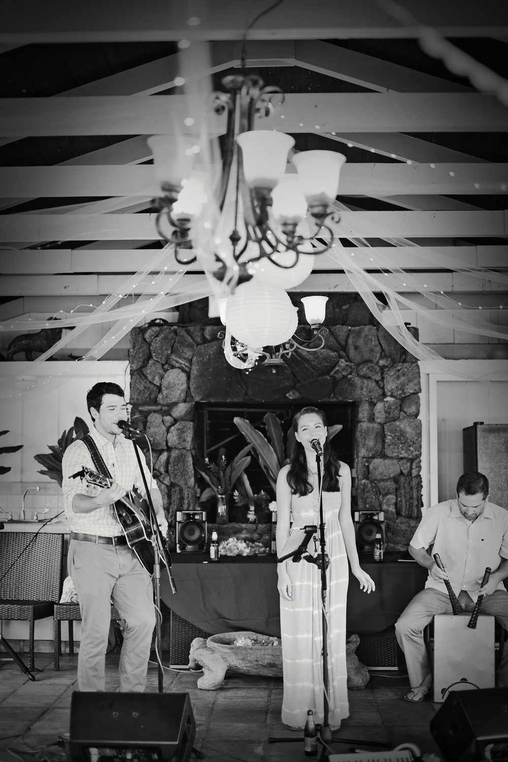 """Our first dance was truly a highlight, a super emotional moment, and the band just made it so special for us."" - Valaer & John (Wedding, Oahu, Fall 2014)"