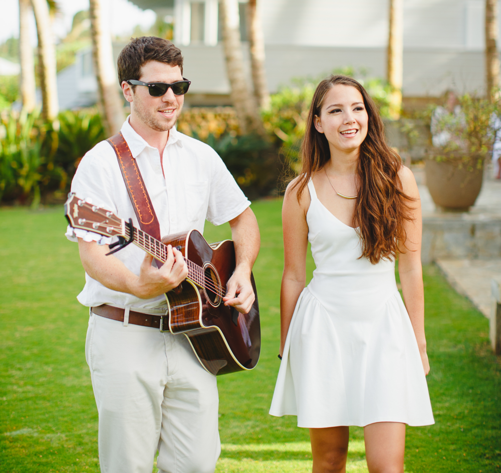 """Their sound is amazing and a perfect fit for an island event."" - Stephanie & Noah (Wedding, Oahu, Summer 2013)"