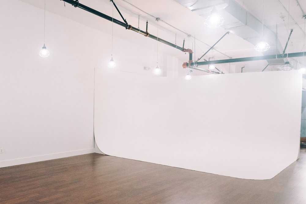 The Seamless - Just what every high-end photo and video shoot needs: a big white wall.