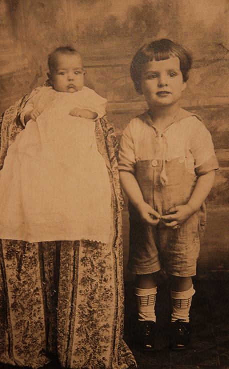Howard and his sister - toddler years