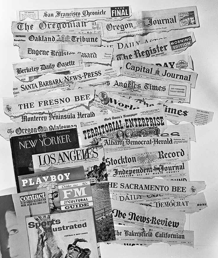 Newspapers that the advertising ran in