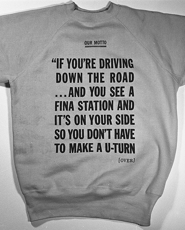 Fina Petrol motto sweatshirt