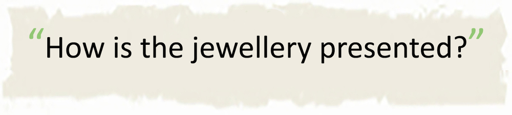 Handmade silver jewellery presented in exclusive jewellery boxes