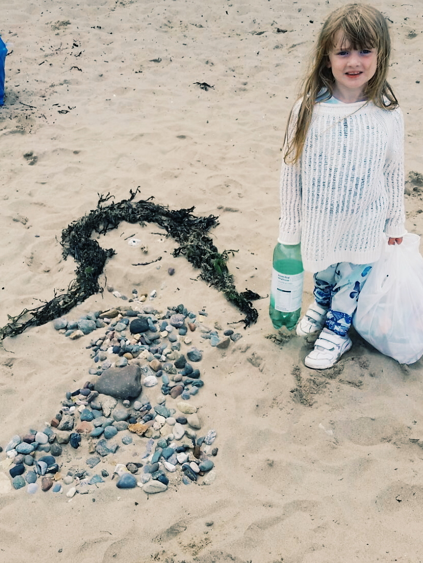 princess sand artwork Llanbedrog beach