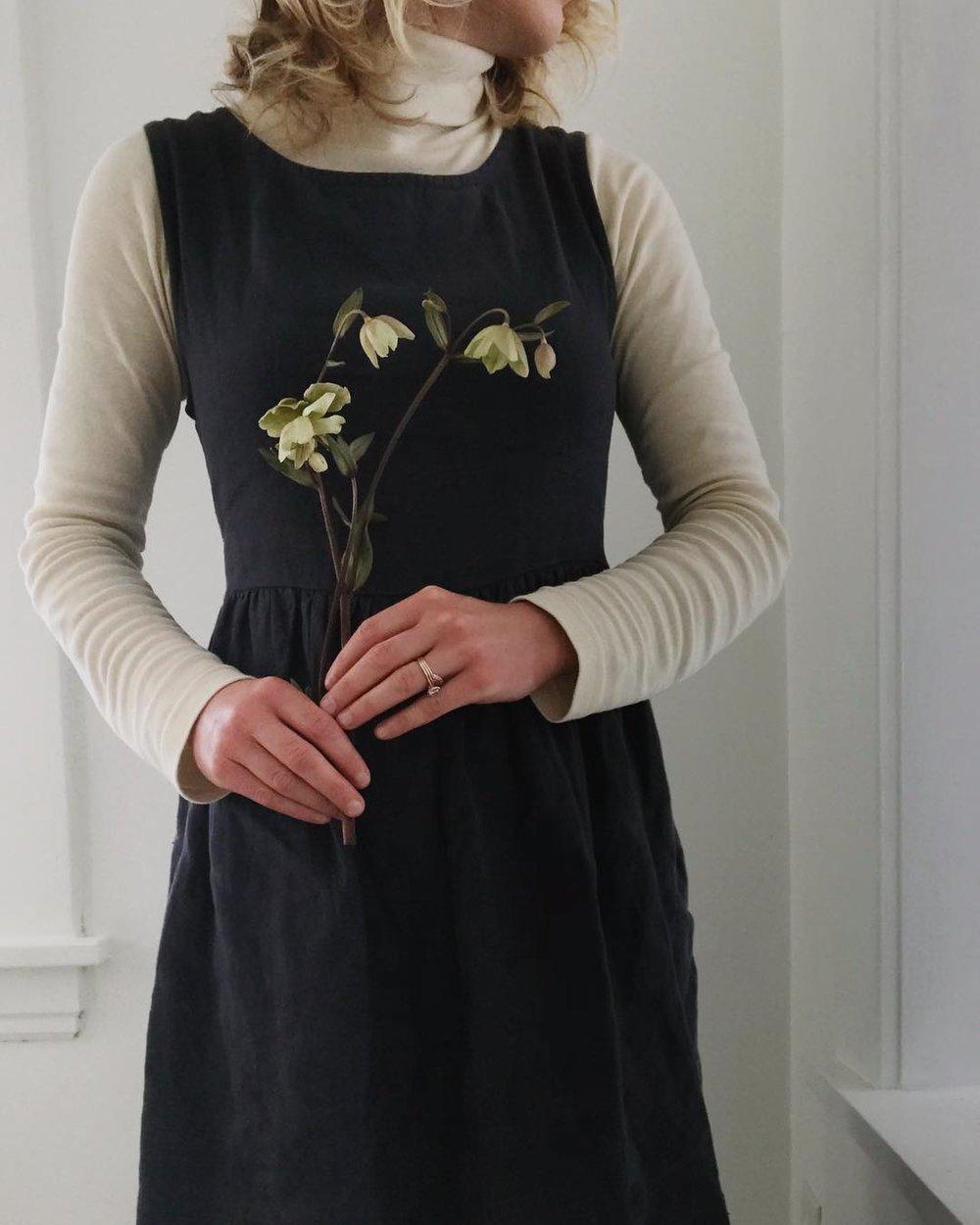 Not Perfect Linen  dress,  KOTN  turtleneck