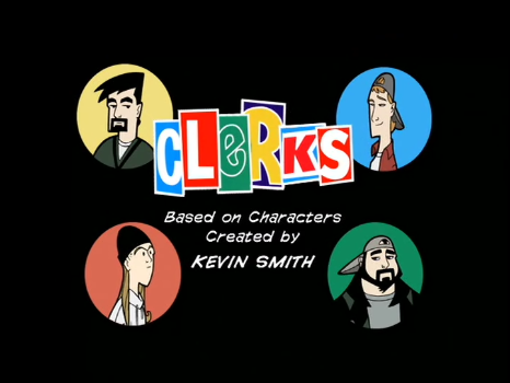 "The title card for "" Clerks: The Animated Series"""
