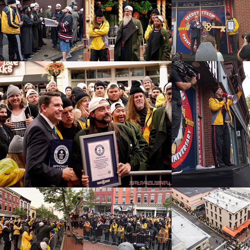 Makin' Records in Red Bank! - The largest gathering of Jay and Silent Bob cosplayers ever assembled, setting a Guinness World Record.