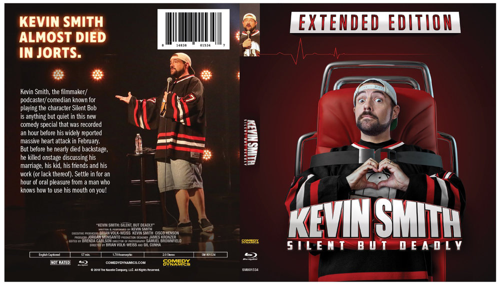 KEVIN SMITH - SILENT BUT DEADLY - BLU RAY - SIGNED BY KEVIN