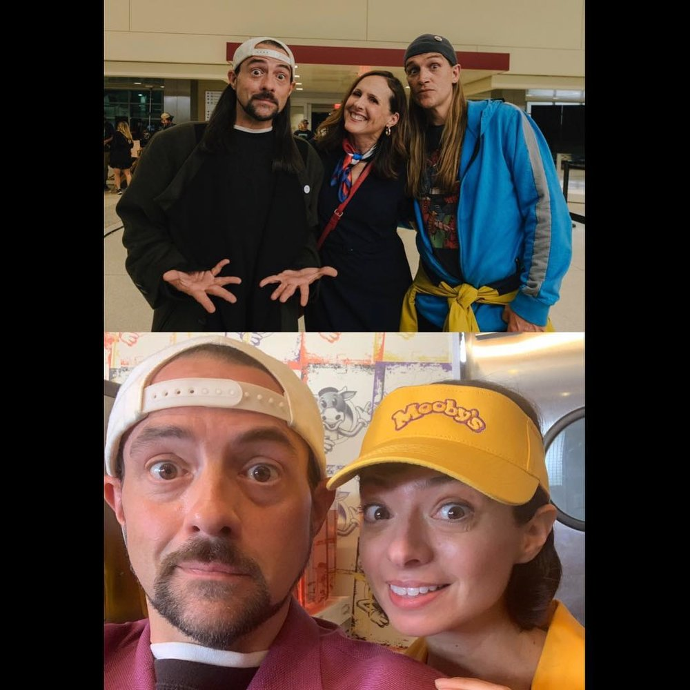 TOP: Kevin Smith, Molly Shannon, Jason Mewes / BOTTOM: Kevin Smith and Kate Micucci