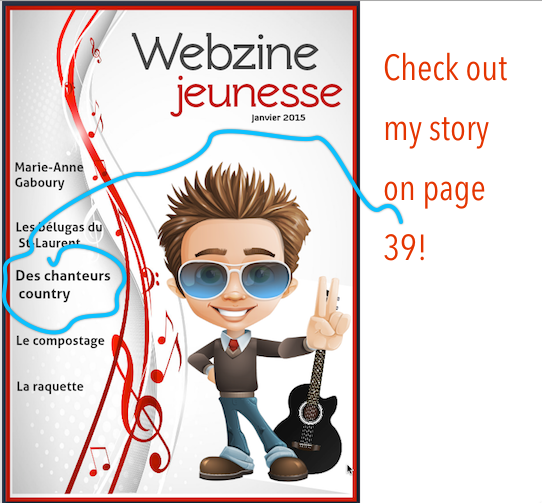 Click anywhere on image to go to Webzine jeunesse!