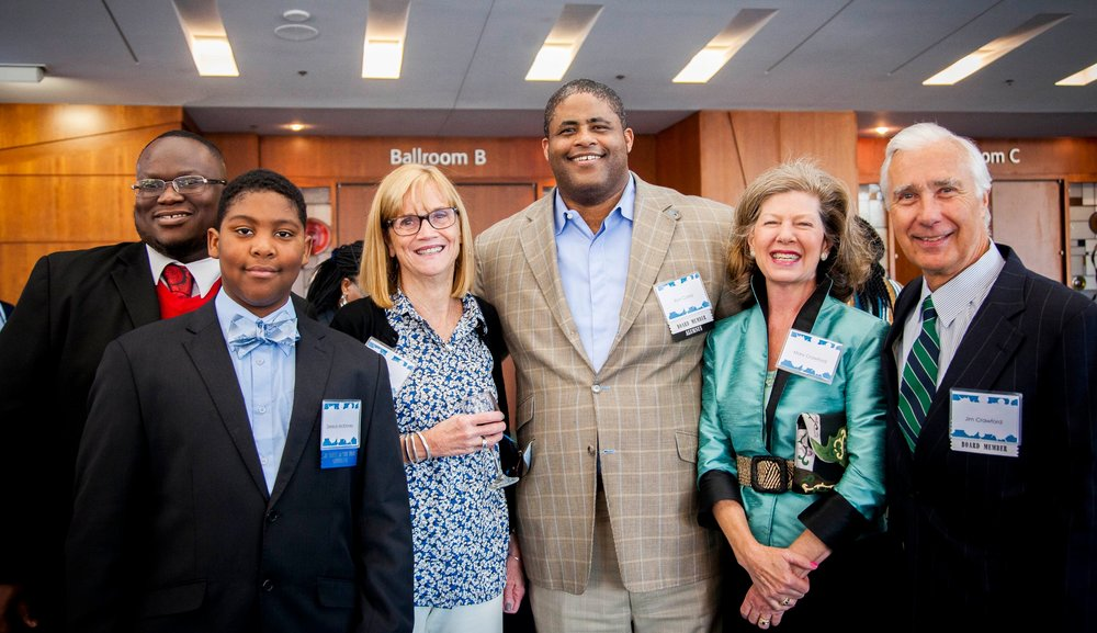 Ron Carey (center) attending a recent Youth of the Year event.