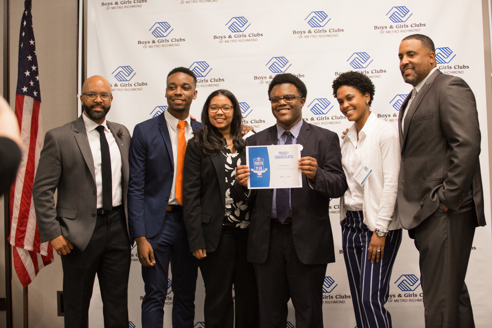 Me with Steve Johnson, Tevonte Grant, Ms. Jade, Ms. Chevonne and Mr. Miller after the celebration.