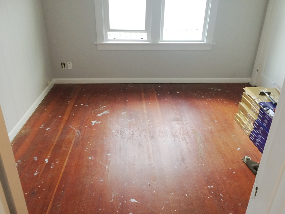 Office Makeover Before Pictures | Beautiful Home Office Inspiration | DIY Project | Office Reveal | Renovation Series | Emma Rose Company | Original Hardwood Floors | DIY