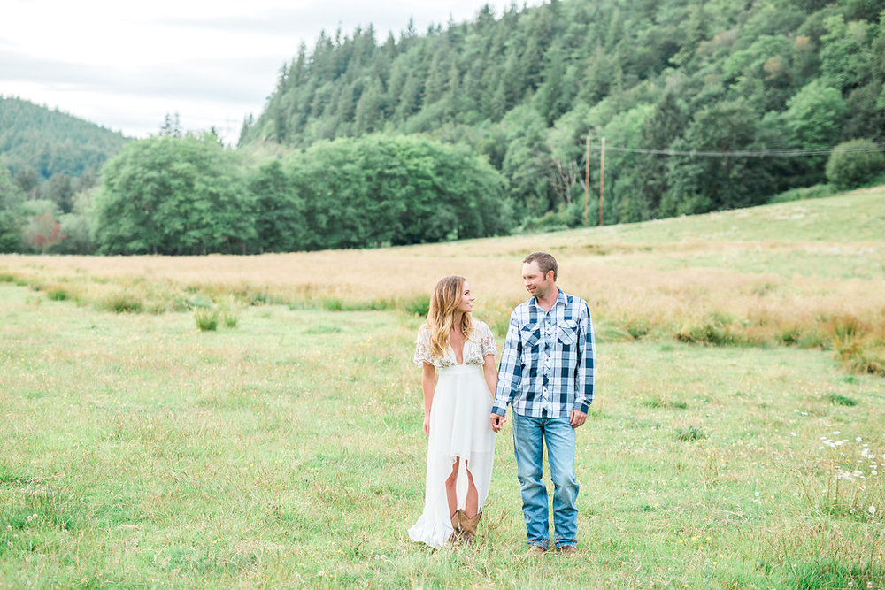 Beautiful outdoor engagement session | What to wear | Photo Inspiration | Engagement session | Portrait | White | Detail Shots | Mastin Labs | Engaged | Fuji 400 | Green Pastures