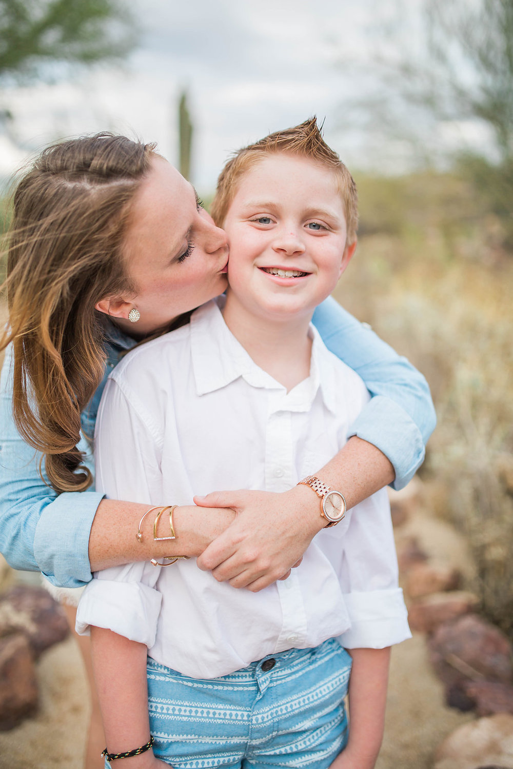 Mom and Son Photo Shoot | Arizona Session | Single Mom | Mom and Son | Family Photo Session | Glendale, Arizona | Photography Posing Techniques | How to Pose Your Clients | Kiss on Cheek | Fun Posing