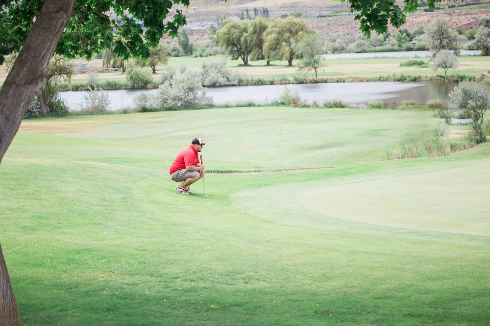 Golf Course Proposal | 9th Hole Proposal | Golf Course Photo Session | Beautiful Engagement Session | Seattle Wedding Photographer