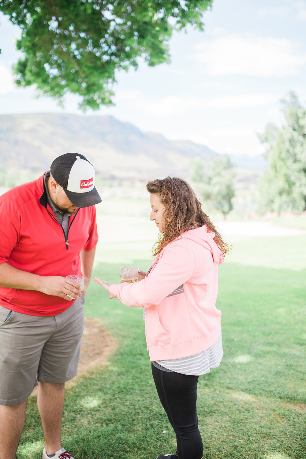 Golf Course Proposal | 9th Hole Proposal | Golf Course Photo Session | Beautiful Engagement Session | Seattle Wedding Photographer | Surprise Proposal | Beautiful Engagement Ring