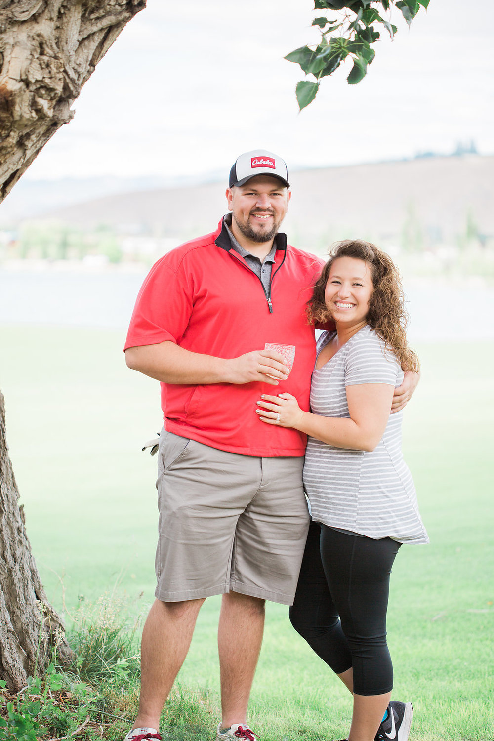 Golf Course Proposal | 9th Hole Proposal | Golf Course Photo Session | Beautiful Engagement Session | Seattle Wedding Photographer | Surprise Proposal | Happy Couple | Ring Shot